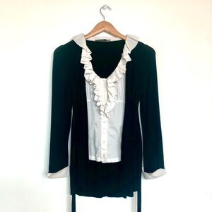 🆕 Ruffed Blouse - Made in Italy